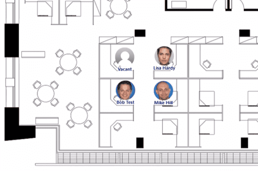Employee Photos on a floor plan